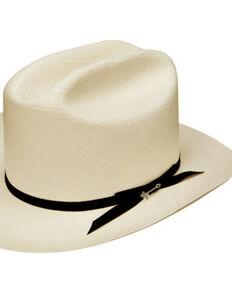 Stetson Men's White Shantung Open Road Hat, Natural, hi-res