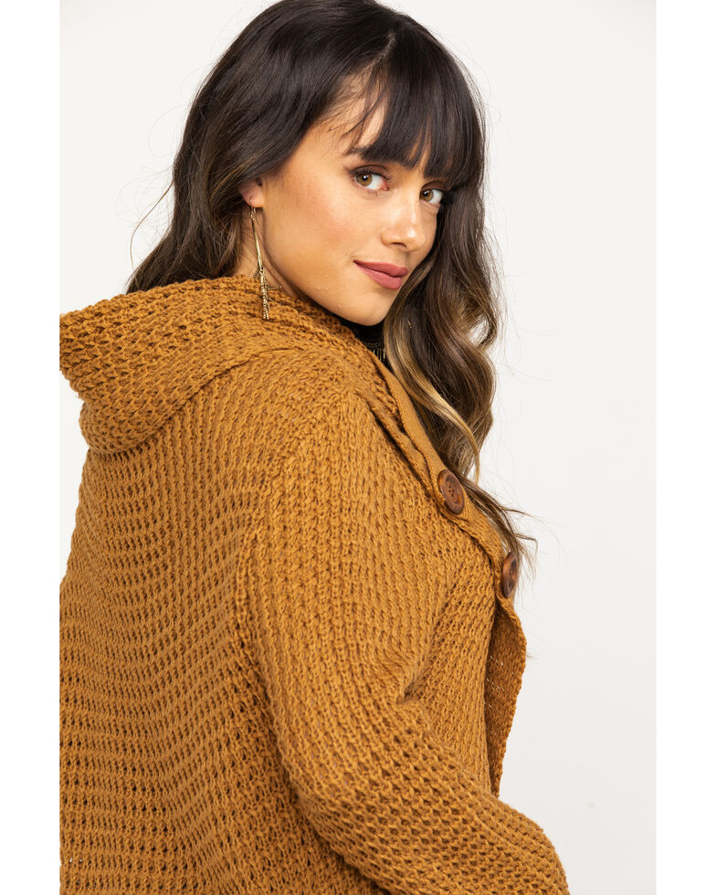 White Label by Panhandle Women's Waffle Knit Crossover Cowl, Tan, hi-res