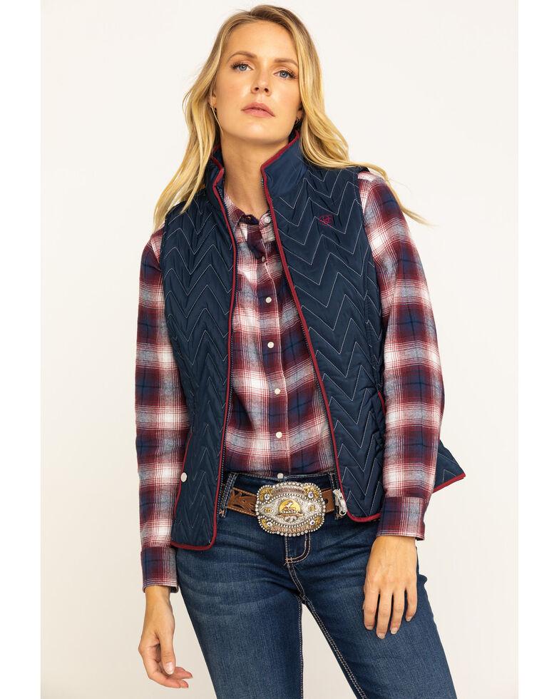 Ariat Women's Navy Ashley Vest, Navy, hi-res