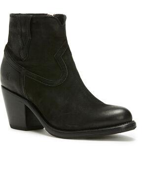 Frye Women's Black Lillian Western Booties - Round Toe , Black, hi-res