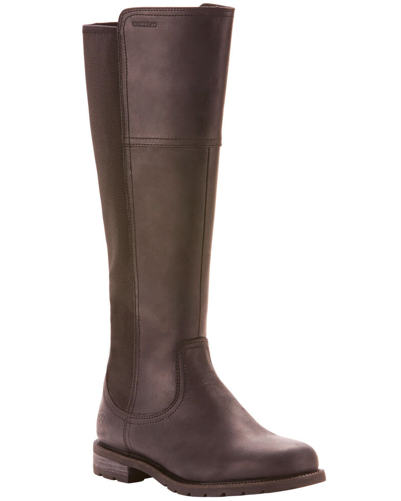 Ariat Women's Sutton Waterproof Riding Boots - Round Toe, Black, hi-res