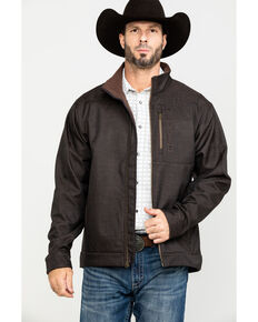 Cinch Men's Textured Bonded Zip-Up Jacket, Brown, hi-res