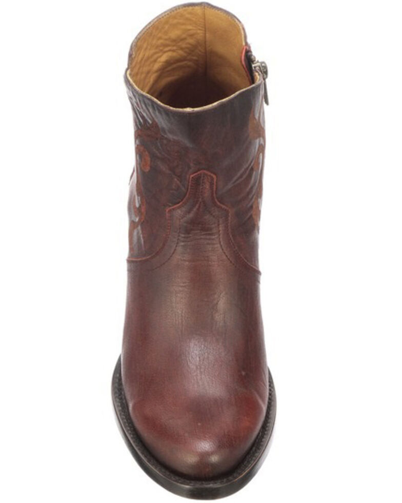 Lucchese Women's Alondra Fashion Booties - Round Toe, Red, hi-res