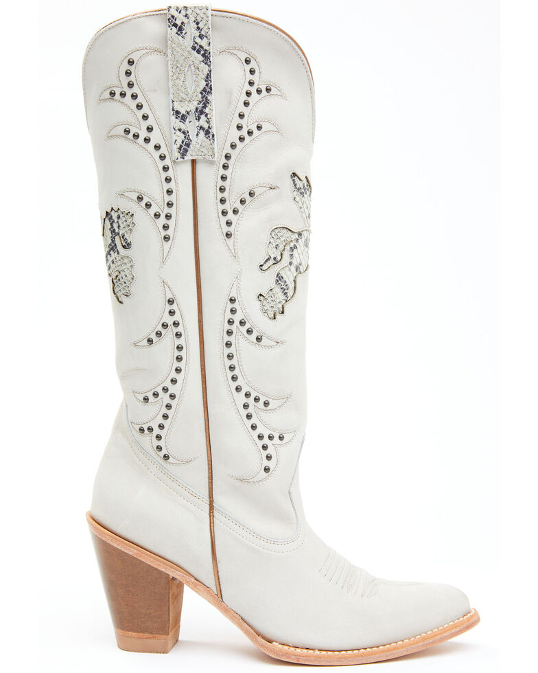 Idyllwind Women's Gambler Western Boots - Round Toe, White, hi-res