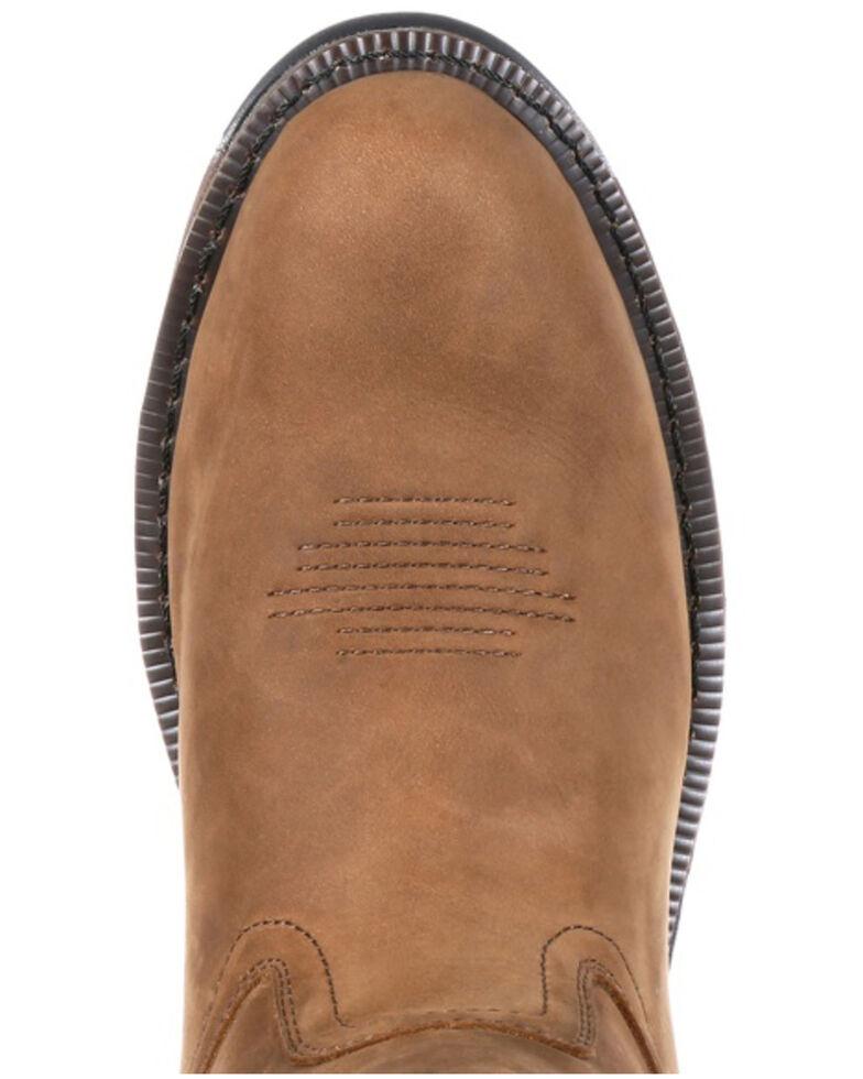 Georgia Boot Men's Carbo-Tec Waterproof Western Work Boots - Soft Toe, Dark Brown, hi-res