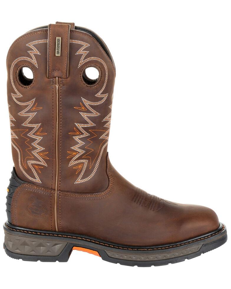 Georgia Boot Men's Carbo-Tec LT Western Work Boots - Soft Toe, Brown, hi-res