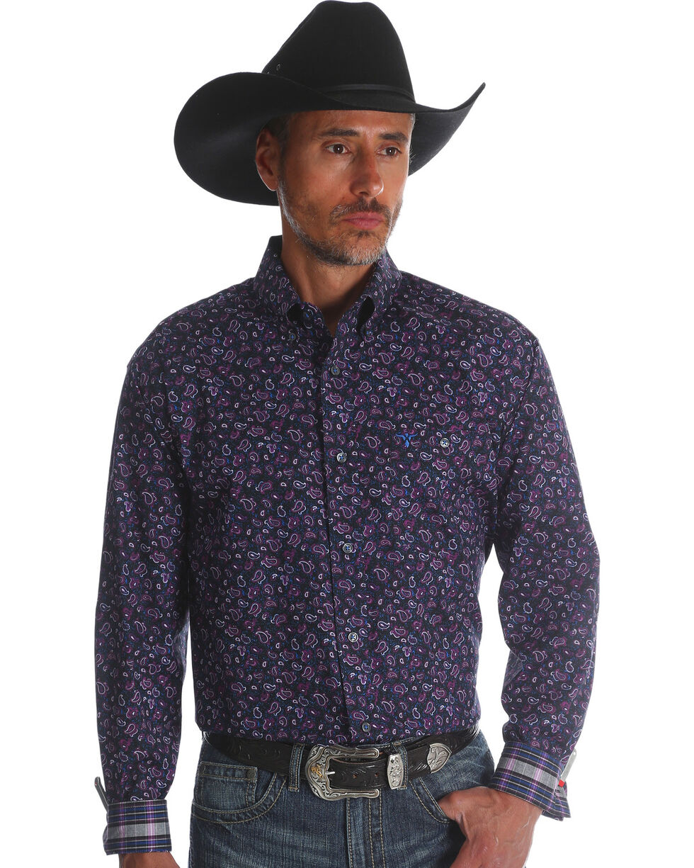Wrangler 20X Men's Plum Advanced Comfort Competition Shirt , Purple, hi-res
