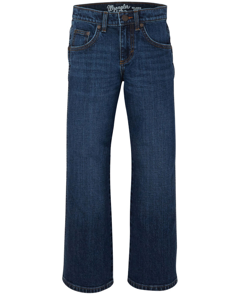Wrangler Retro Boys' 8-16 Lavon Stretch Relaxed Boot Jeans , Blue, hi-res