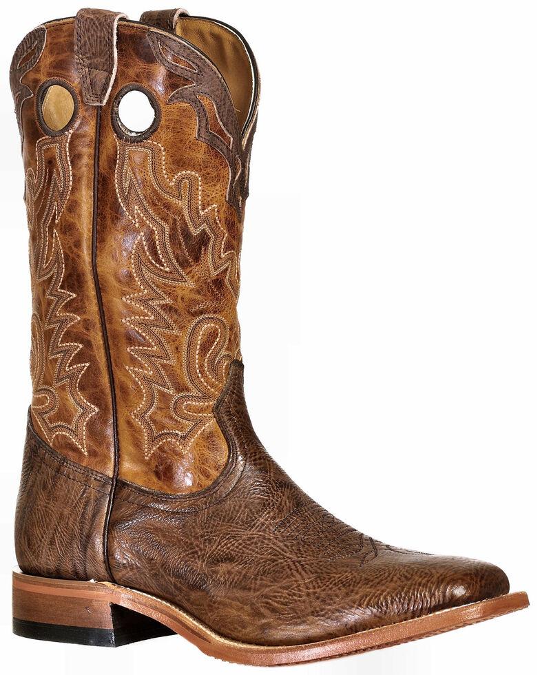 Boulet Men's Western Boots - Square Toe , Cognac, hi-res