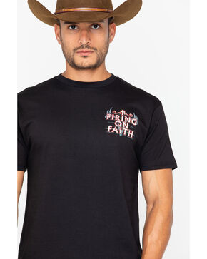 Cowboy Hardware Men's Firing On Faith T-Shirt, Black, hi-res