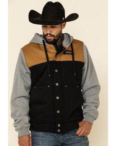 Cinch Men's Color Blocked Canvas Hooded Jacket , Multi, hi-res