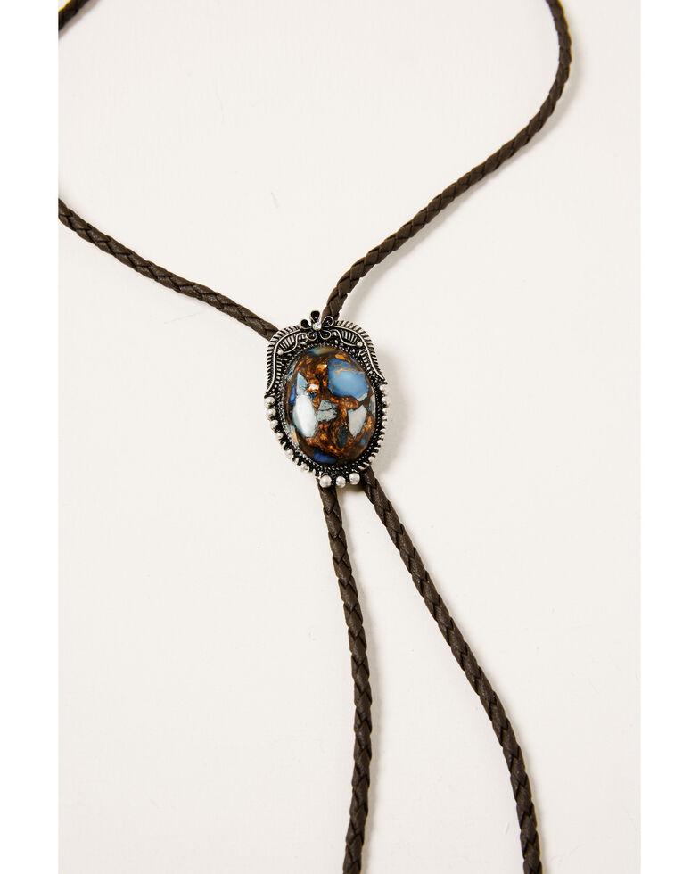 Shyanne Women's Claire Concho Bolo Necklace, Silver, hi-res