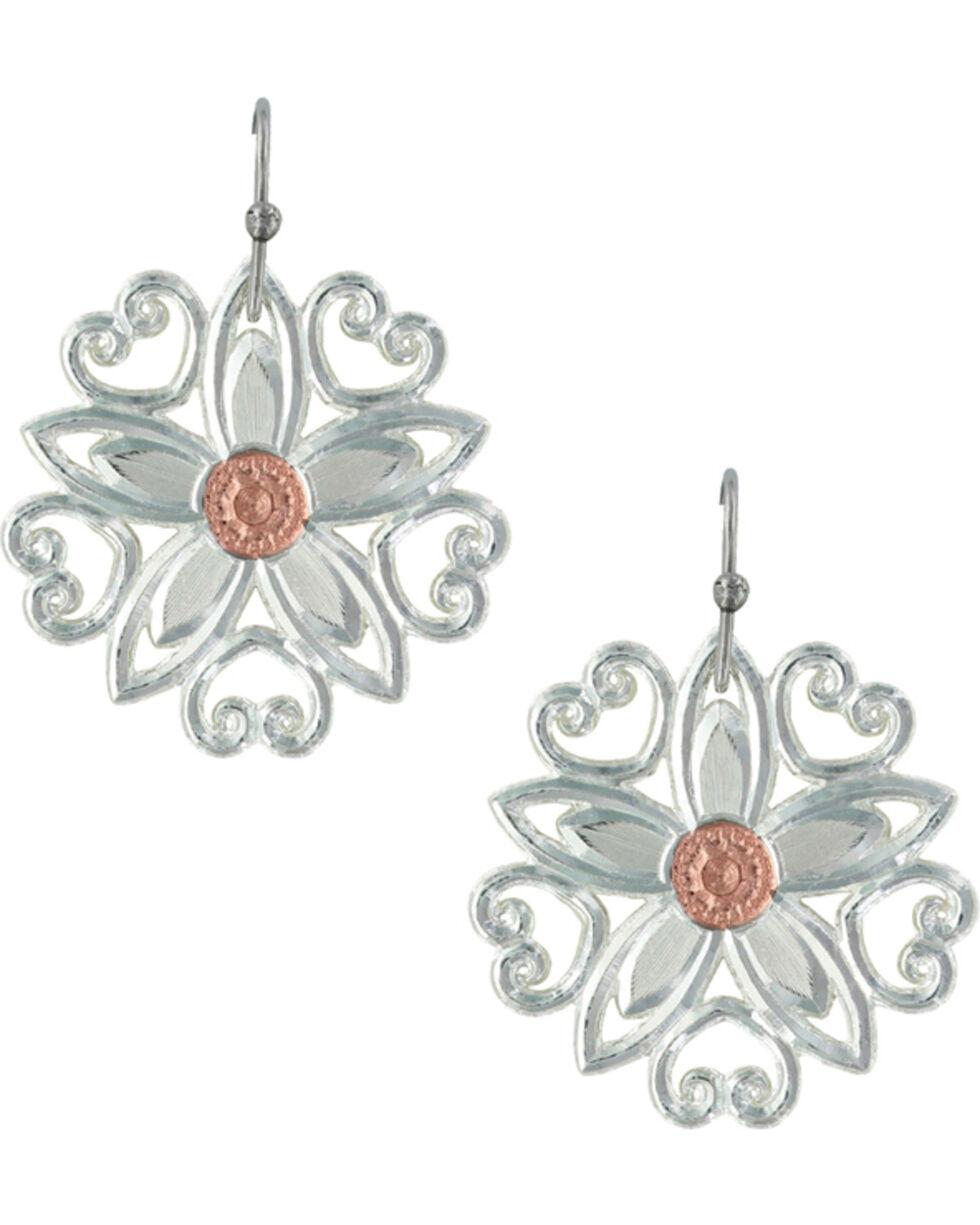 Montana Silversmiths Women's Star Flower Love Earrings , Multi, hi-res