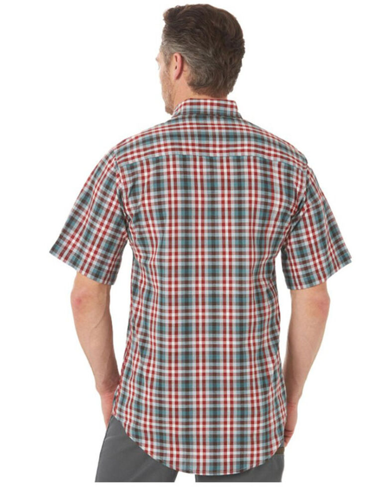 Wrangler Riggs Men's Red Foreman Plaid Short Sleeve Button-Down Work Shirt - Big , Red, hi-res