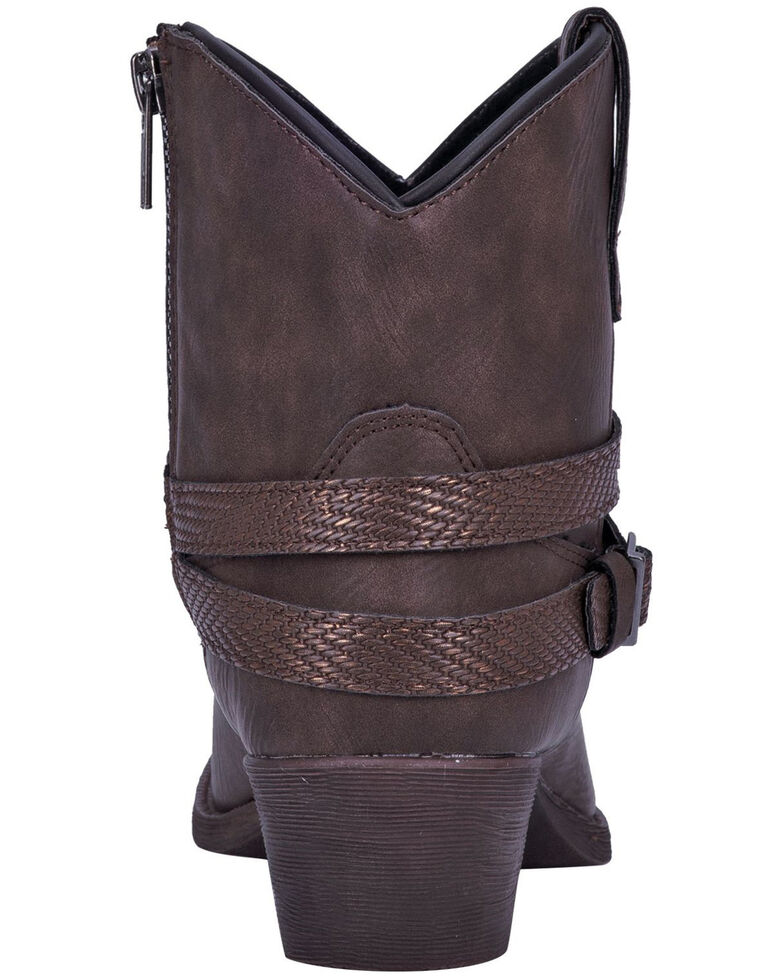 Dingo Women's Aydra Fashion Booties - Round Toe, Chocolate, hi-res