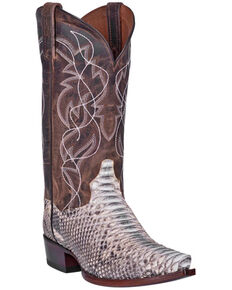 Dan Post Men's Python Marathon Western Boots - Snip Toe, Python, hi-res