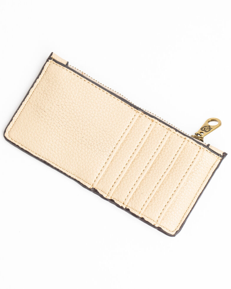 Shyanne Women's Tan Leather Tied Detail Slim Wallet, Tan, hi-res