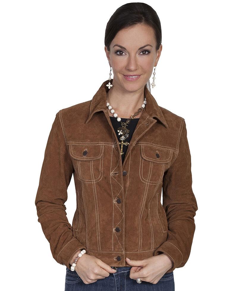 Scully Brown Suede Denim-Style Jacket, Brown, hi-res