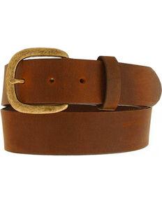 Justin Basic Leather Work Belt - Reg & Big, Bark, hi-res