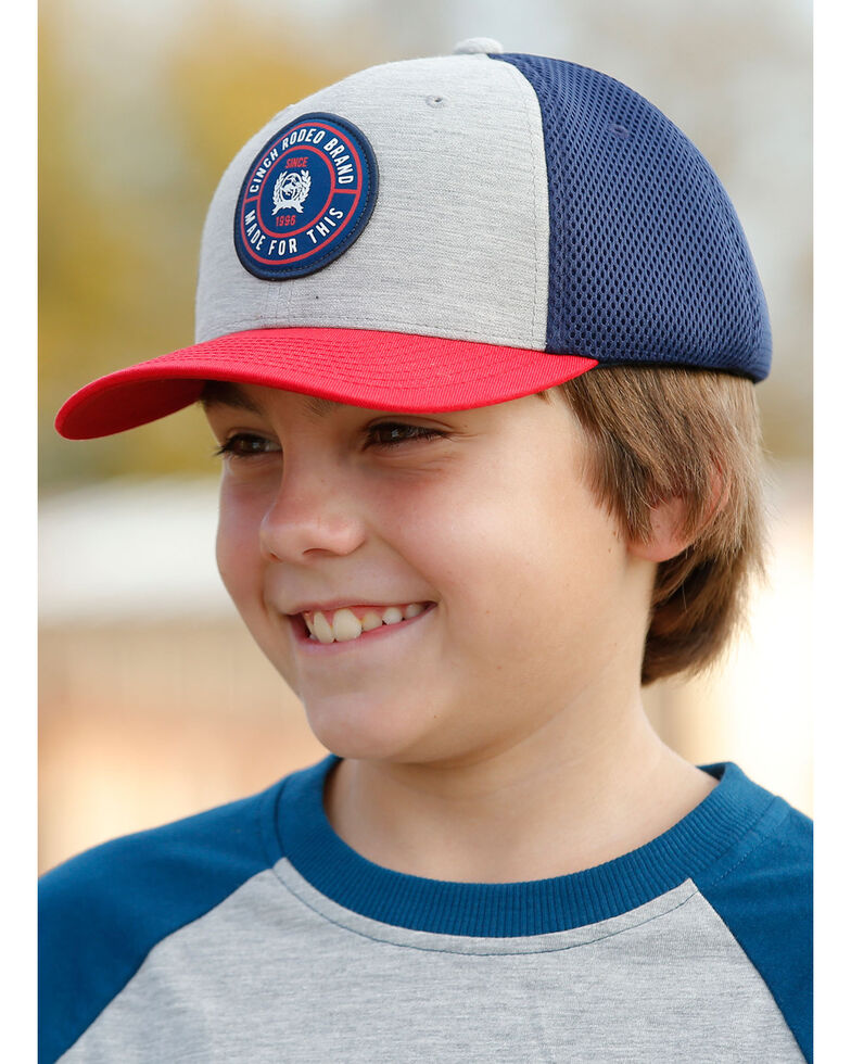Cinch Boys' Flex Fit Air Mesh Trucker Cap , Purple, hi-res