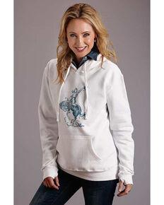 Stetson Women's Cowgirl Graphic Sweatshirt , White, hi-res