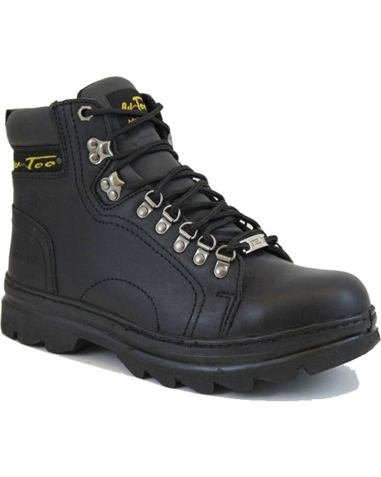 """Ad Tec Men's 6"""" Lace Up Hiker Boots - Steel Toe, Black, hi-res"""