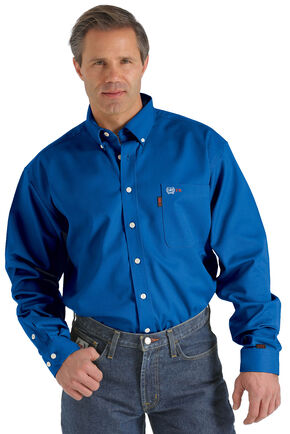 Cinch WRX Flame-Resistant Solid Royal Blue Shirt, Royal, hi-res