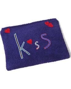 ále by Alessandra Women's Kiss Makeup Bag , Blue, hi-res