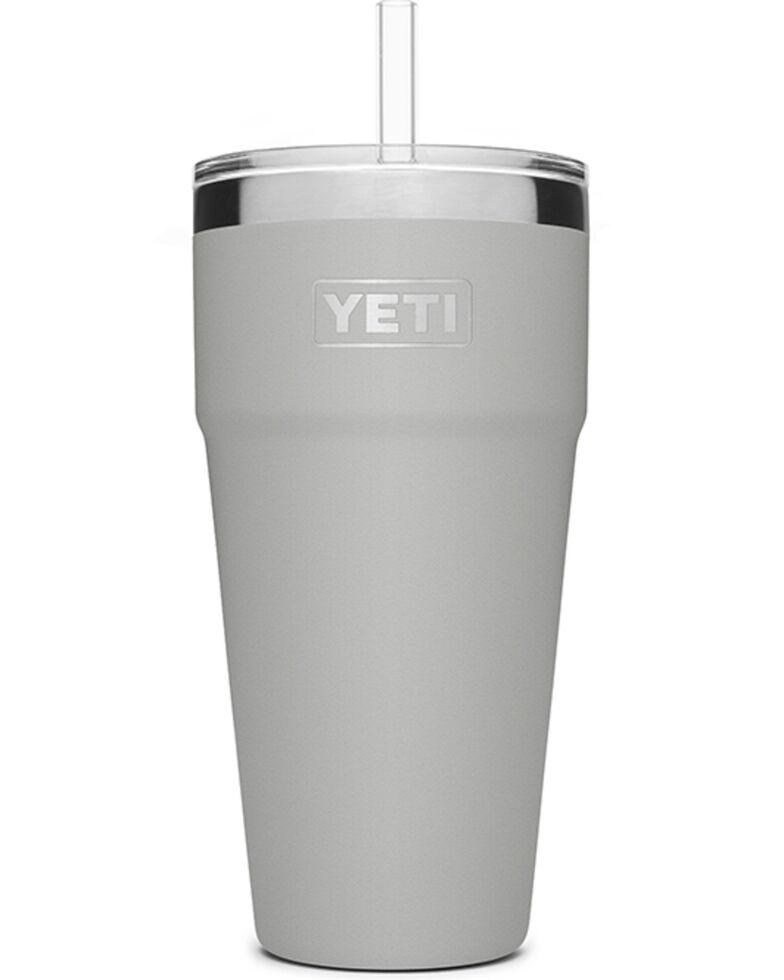 Yeti Rambler 26oz Granite Grey Straw Cup, Grey, hi-res