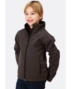 Roper Boys' Grey Hi Tech Fleece Zip Up Jacket , Grey, hi-res