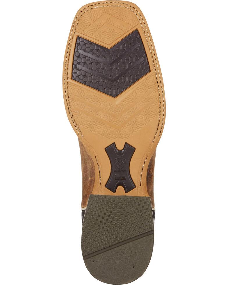 Ariat Men's Arena Rebound Cowboy Boots - Square Toe, Tan, hi-res