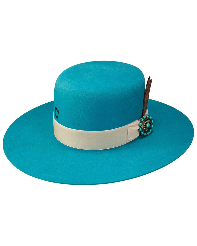 Charlie 1 Horse Women's Turquoise Bohemian Wool Felt Western Hat, Turquoise, hi-res