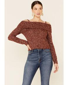 Shyanne Women's Chili Off-Shoulder Pullover Sweater , Chilli, hi-res
