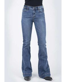 Stetson Women's 921 High Rise Flare Jeans, Blue, hi-res