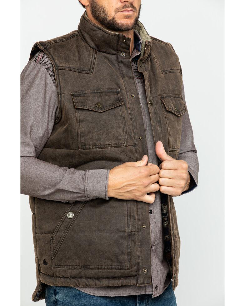 Cody James Men's Oil Tanker Heavy Weight Puffer Vest , Brown, hi-res