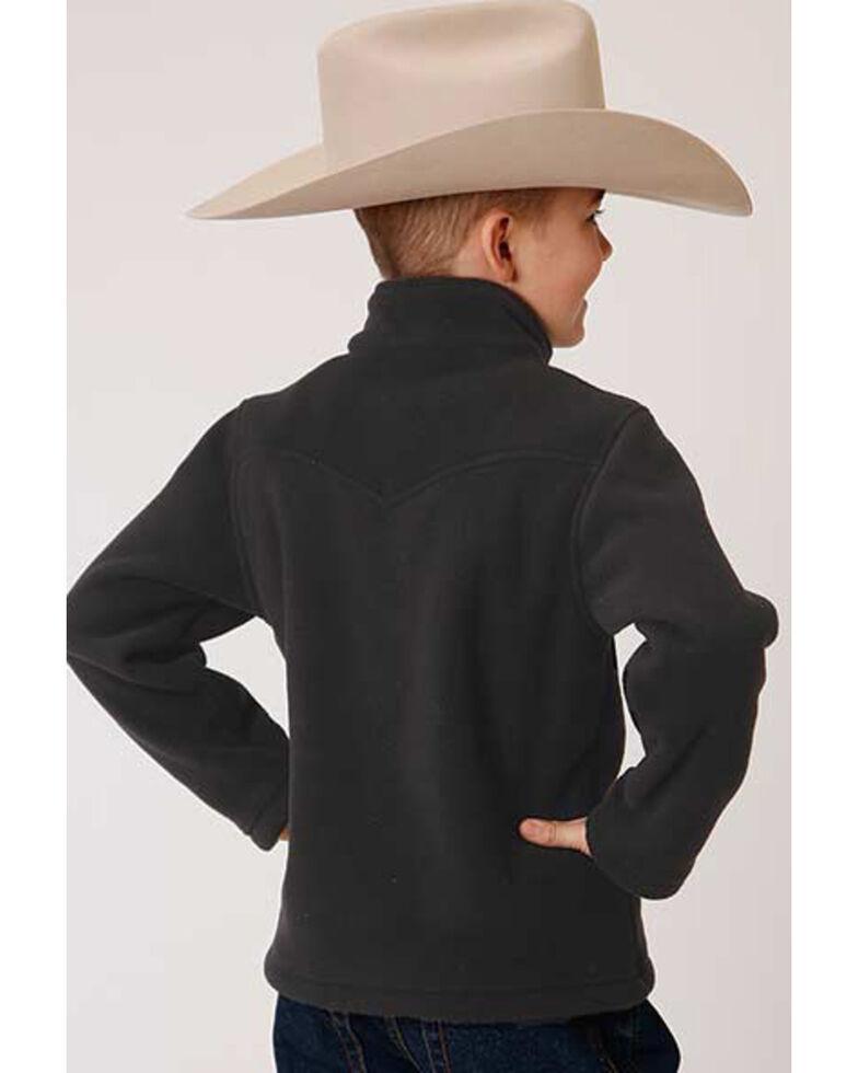 Roper Boys' Grey Lightweight Micro Fleece 1/4 Zip Pullover Jacket , Grey, hi-res
