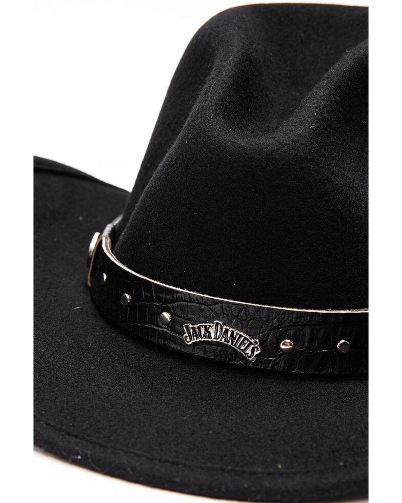 Jack Daniel's Men's Crushable Wool Gus Crown Hat , Black, hi-res