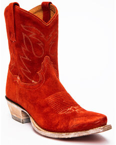 Dan Post Women's Standing Room Only Western Boots - Snip Toe, Red, hi-res