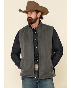 Outback Trading Co. Men's Black Loxton Vest , Black, hi-res