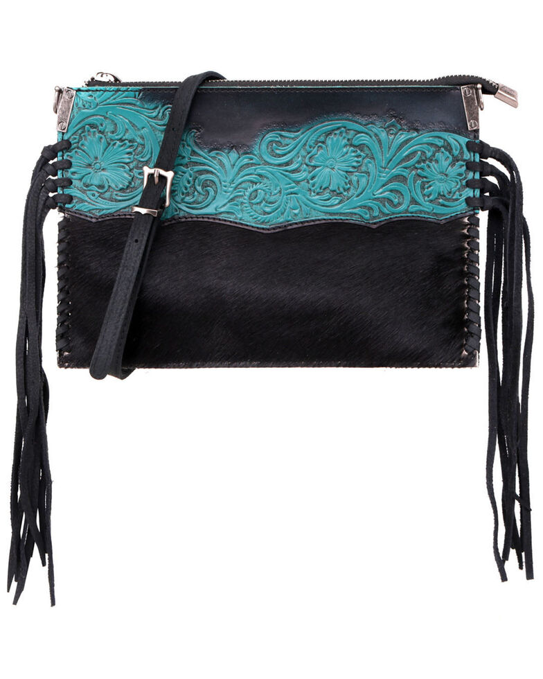 Montana West Hand Tooled Crossbody Bag, Black, hi-res