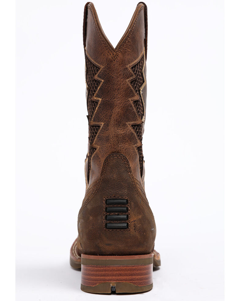Cody James Men's Xtreme Lightning Western Work Boots - Square Toe, Brown, hi-res