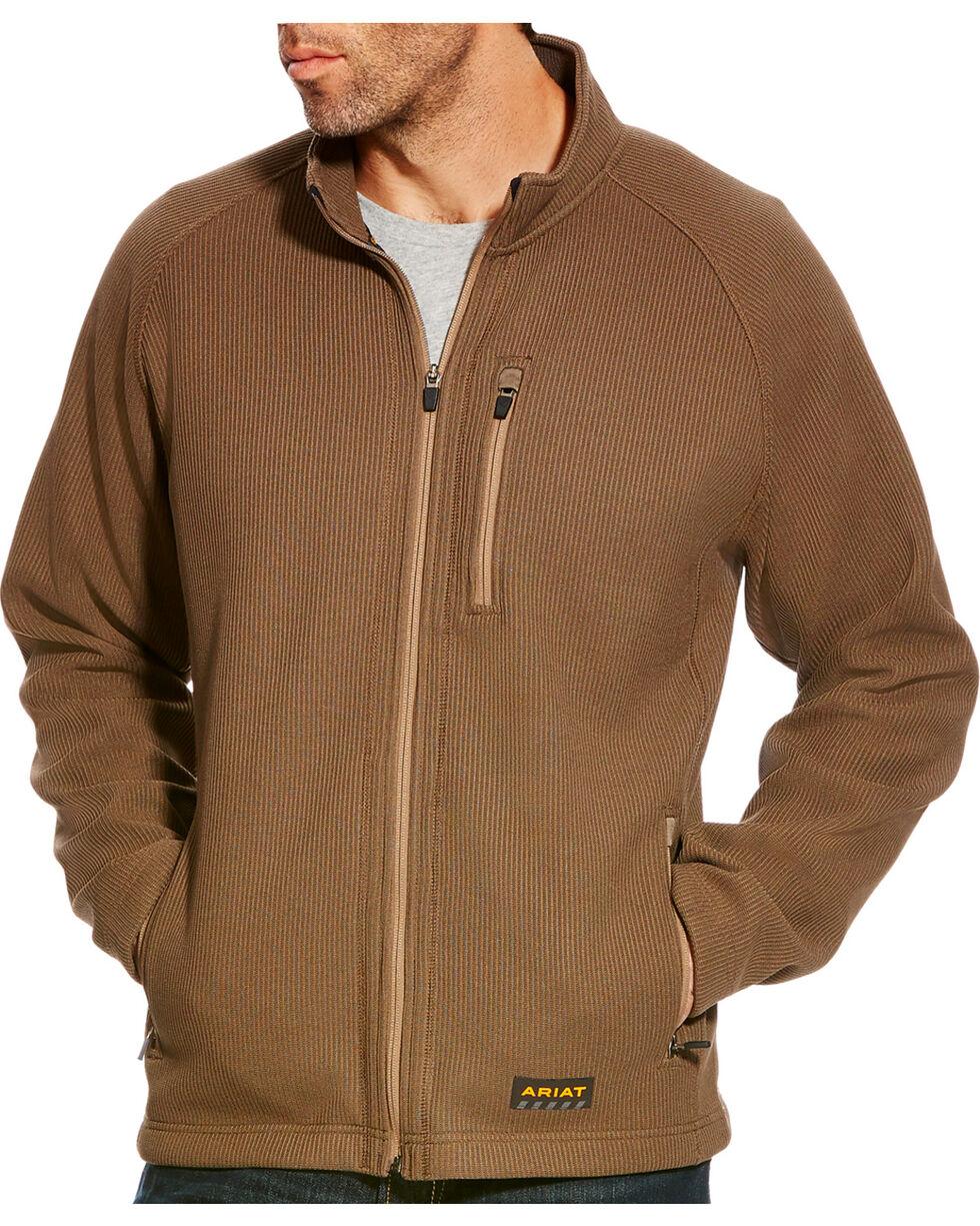 Ariat Men's Brown Rebar Duratek Fleece Jacket - Tall, Olive, hi-res
