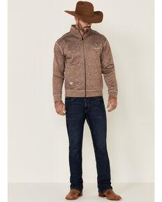 Cowboy Hardware Men's Brown Microfleece Zip-Up Jacket , Brown, hi-res