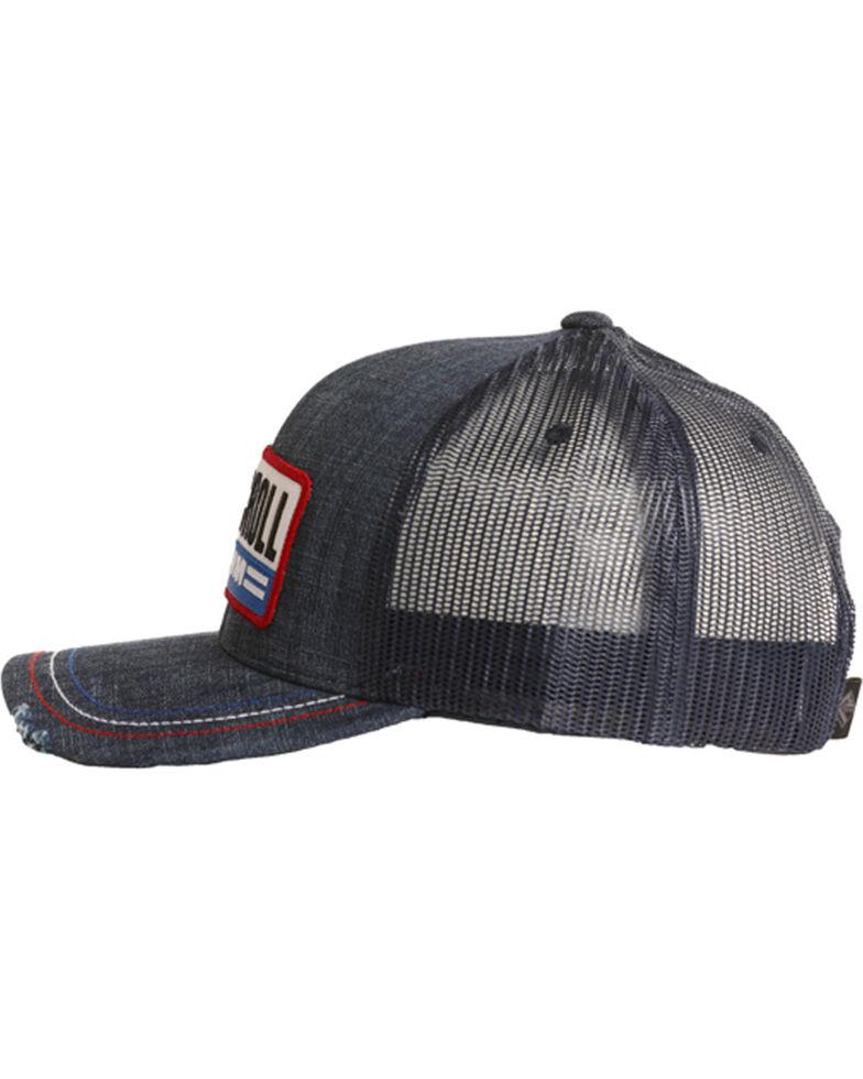 Rock & Roll Denim Men's Patch Snap Back Cap, Red/white/blue, hi-res