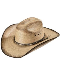 Jason Aldean Kids' Amarillo Sky Jr. Palm Leaf Cowboy Hat, Tan, hi-res