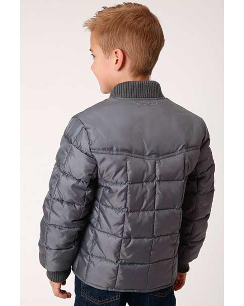 Roper Boys' Grey Rangewear Poly Filled Down Jacket , Grey, hi-res