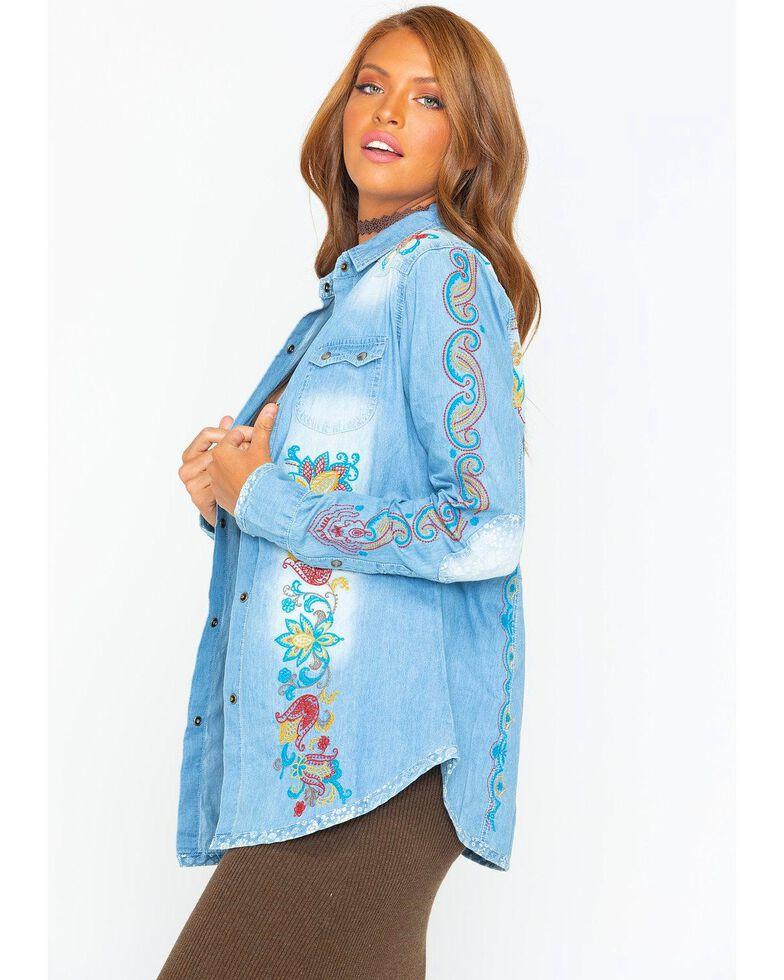 Tasha Polizzi Women's Billie Shirt , Indigo, hi-res