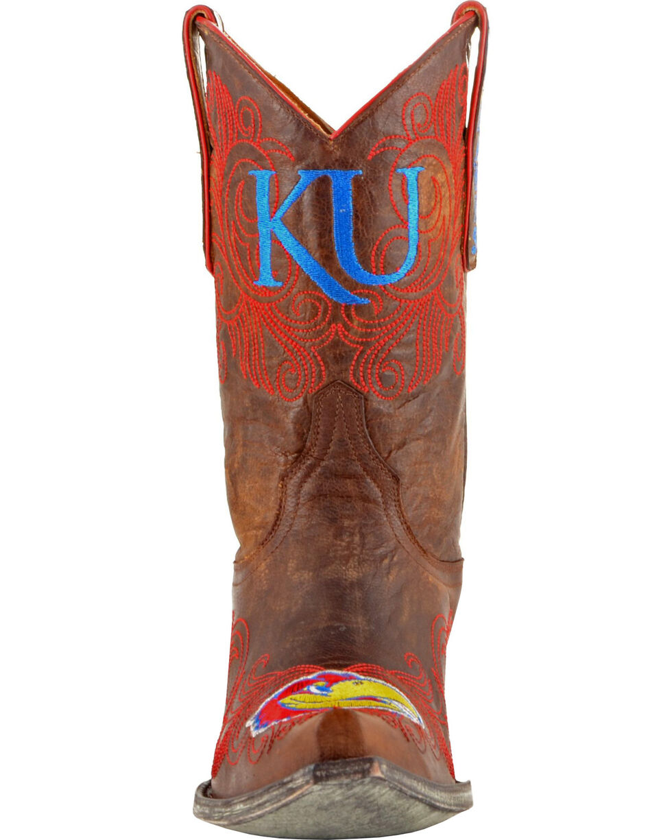 Gameday Boots Women's University of Kansas Western Boots - Snip Toe, Brass, hi-res