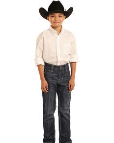 Panhandle Boys' BB Gun Dark Vintage Boot Jeans , Blue, hi-res