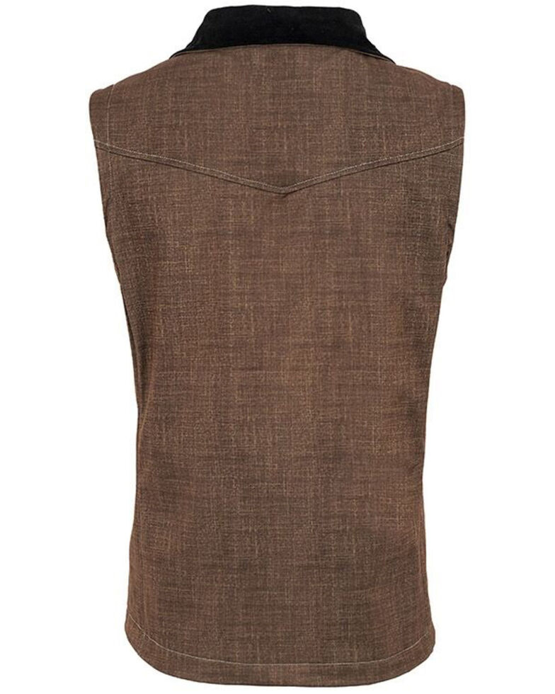 STS Ranchwear Boys' Brown Youth Perf Softshell Vest, Brown, hi-res